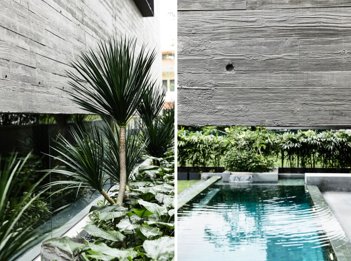 Greenery is common throughout the house but water also plays a big role in the overall design