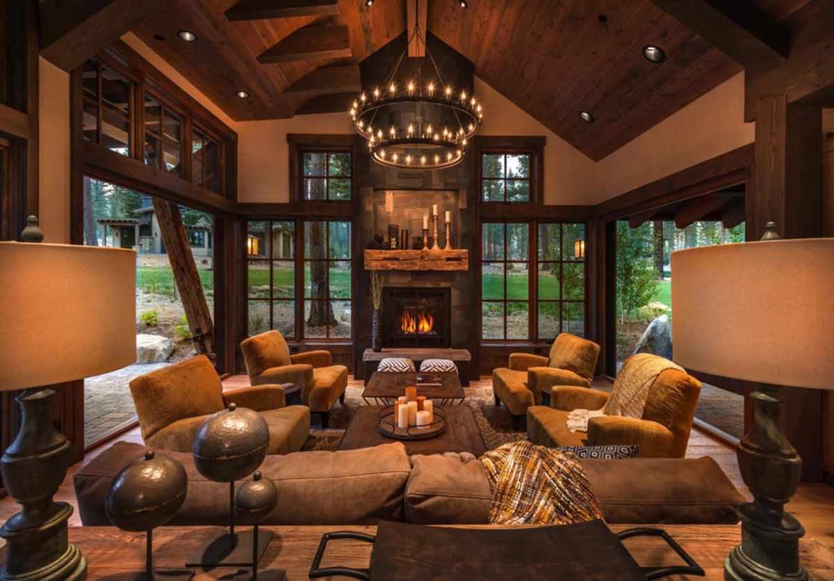 Rustic Living Room Decor Ideas Inspired By Cozy Mountain ...