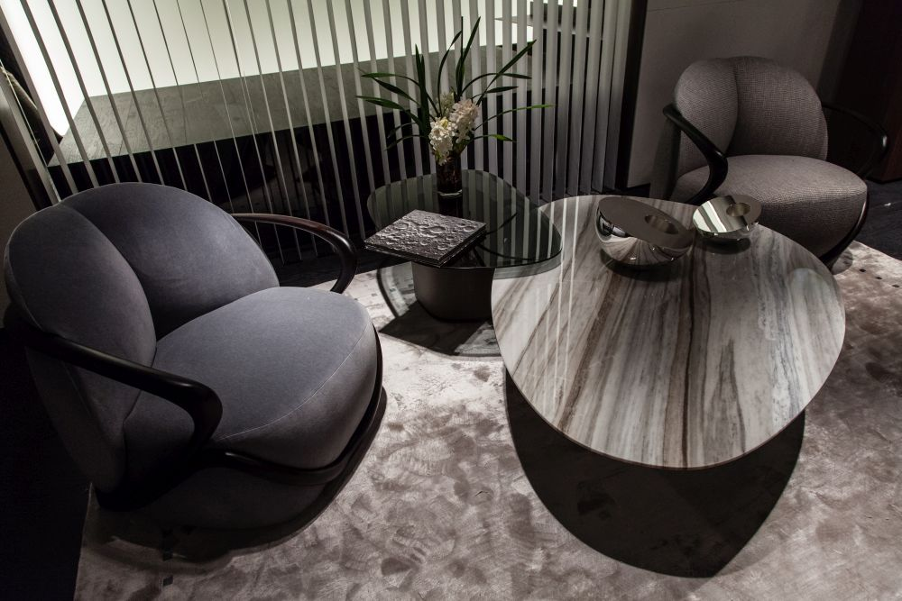 A large coffee table changes a seating area.