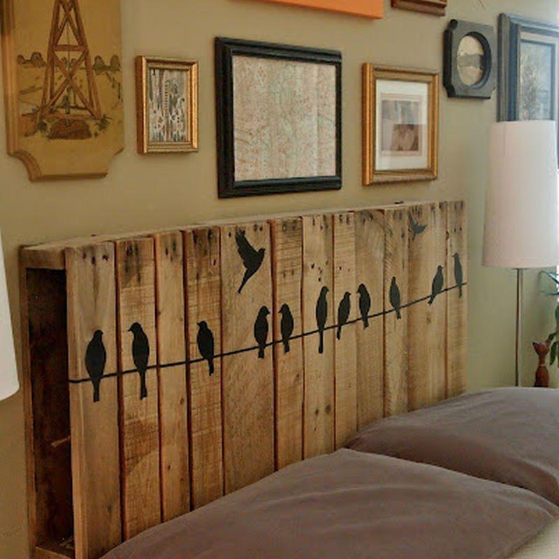 Tablero de madera palet con lindo diseño