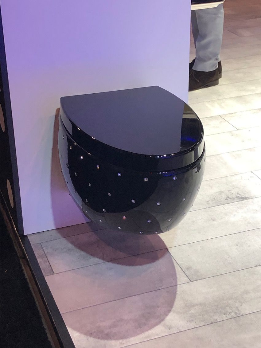 This toilet will appeal to those who like a little bling in the bathroom.