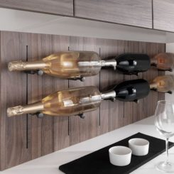 Salice pin wall mounted wine rack
