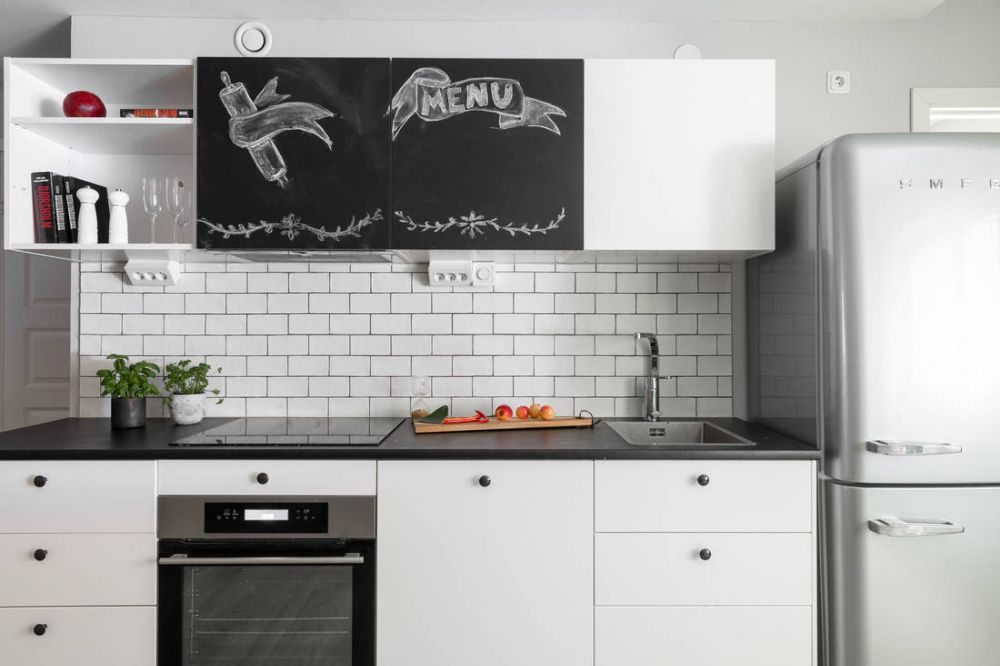 Consider white subway tiles if you want to give your small kitchen a classy and timeless look