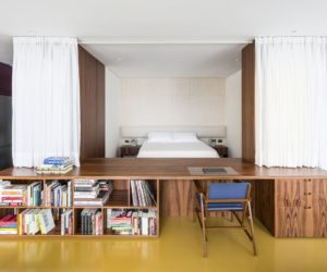 Modern Studio Apartment Redefined By Curtains Walls And Custom Furniture