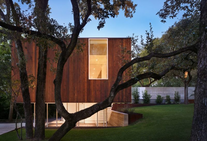 A Minimalist House Wedged Between A Steep Ravine And A Charming Garden