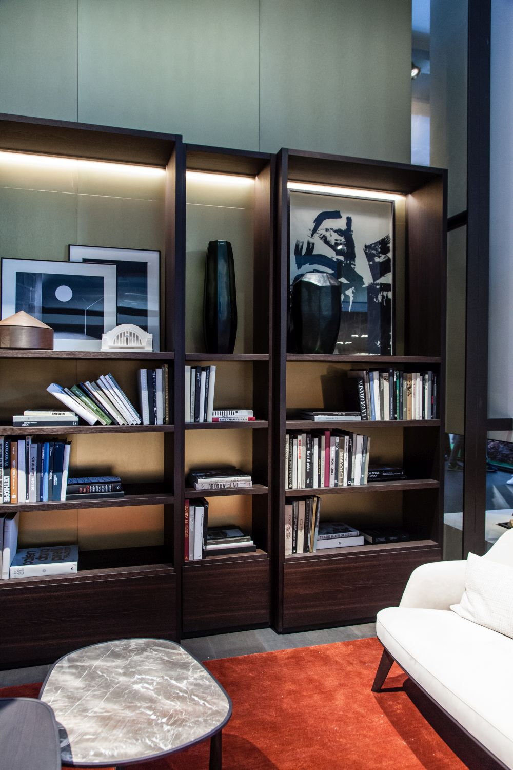 It's possible to combine several individual modules to put together a large bookcase