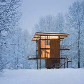 Winter Delta Shelter Cabin by Olson Kundig Architects