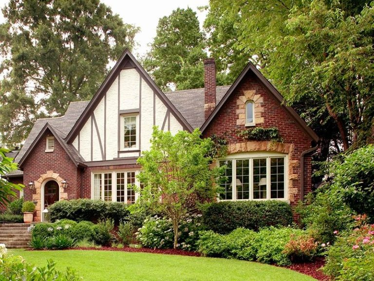 Old World Tudor style is still a popular home choice.