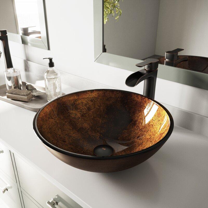 15. Russet Brown handmade vessel sink