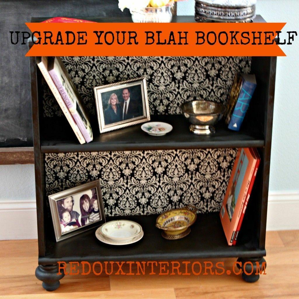 A Classy Fabric Covered Bookshelf