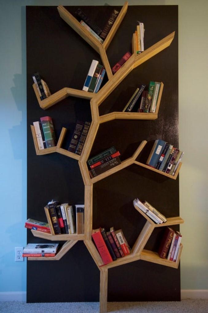 A Rustic Tree Bookshelf