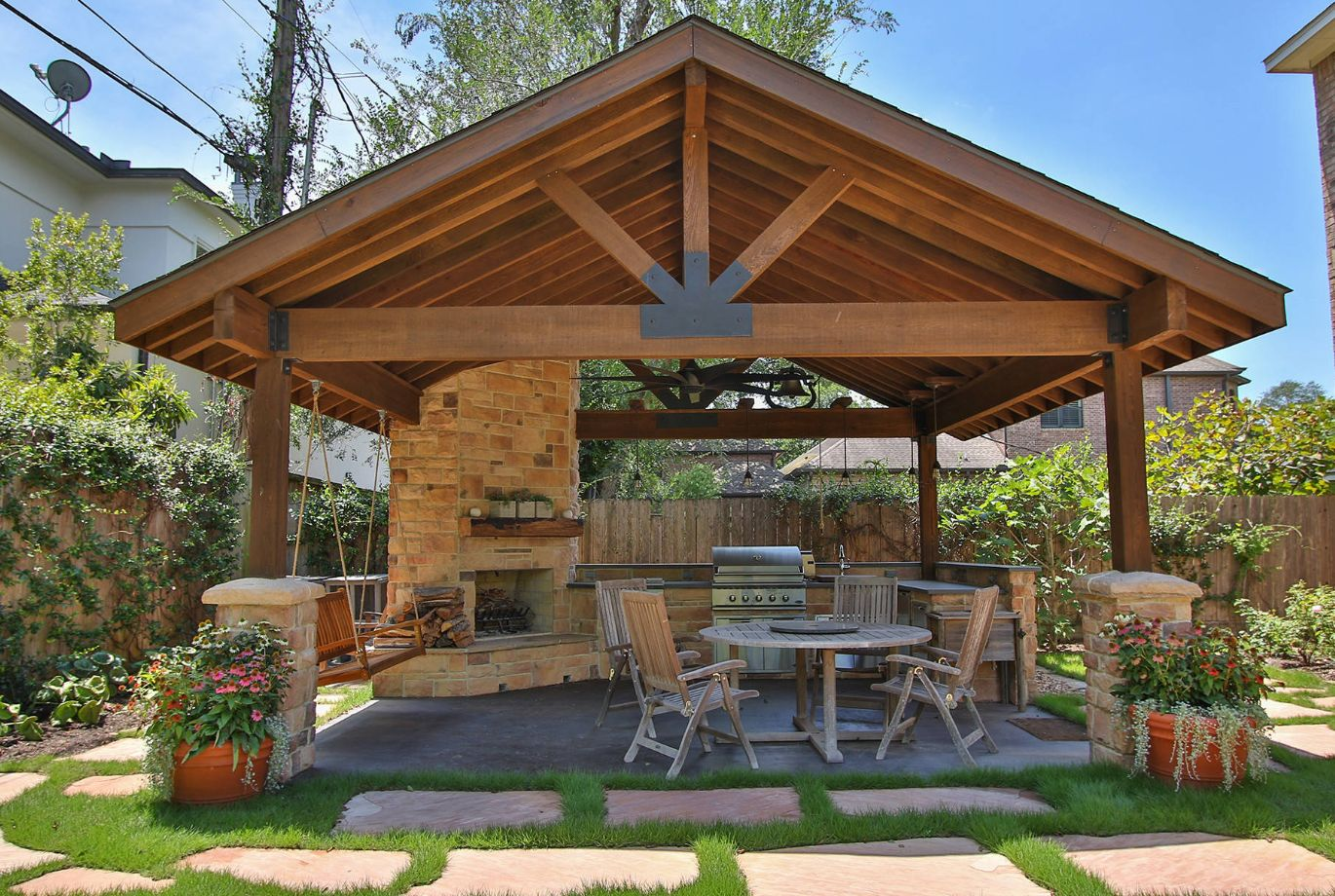A patio pavilion is like another living room in the yead.