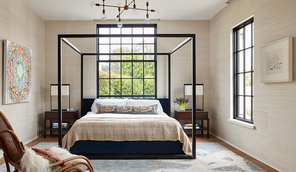 A timeless bedroom is always elegant.