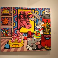Cartoon-based art is naturally colorful.