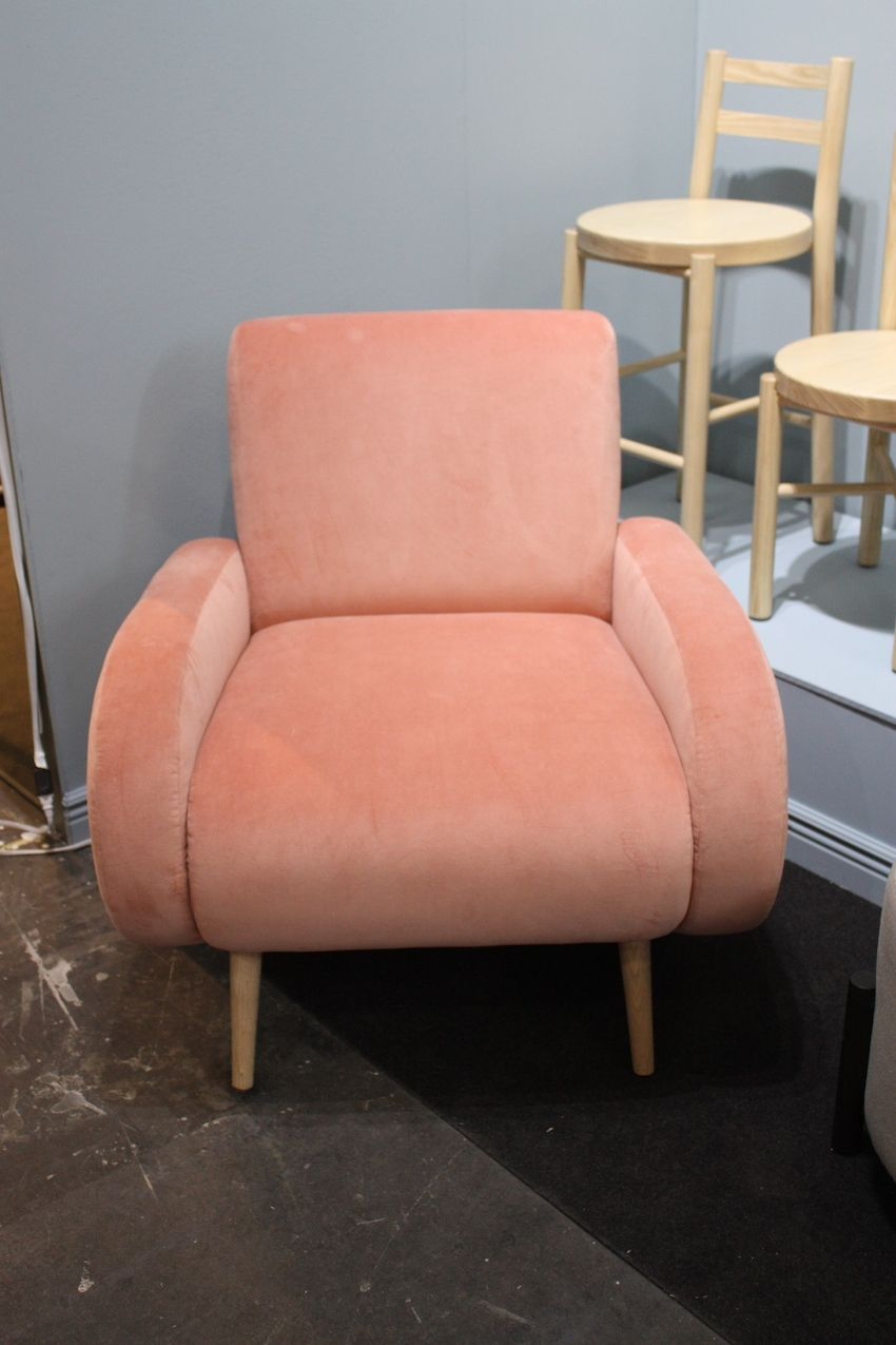 Pastel velvets are popular upholstery textiles.