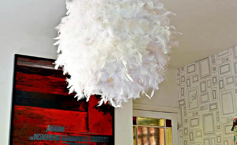 DIY Regolit Feather Lampshade