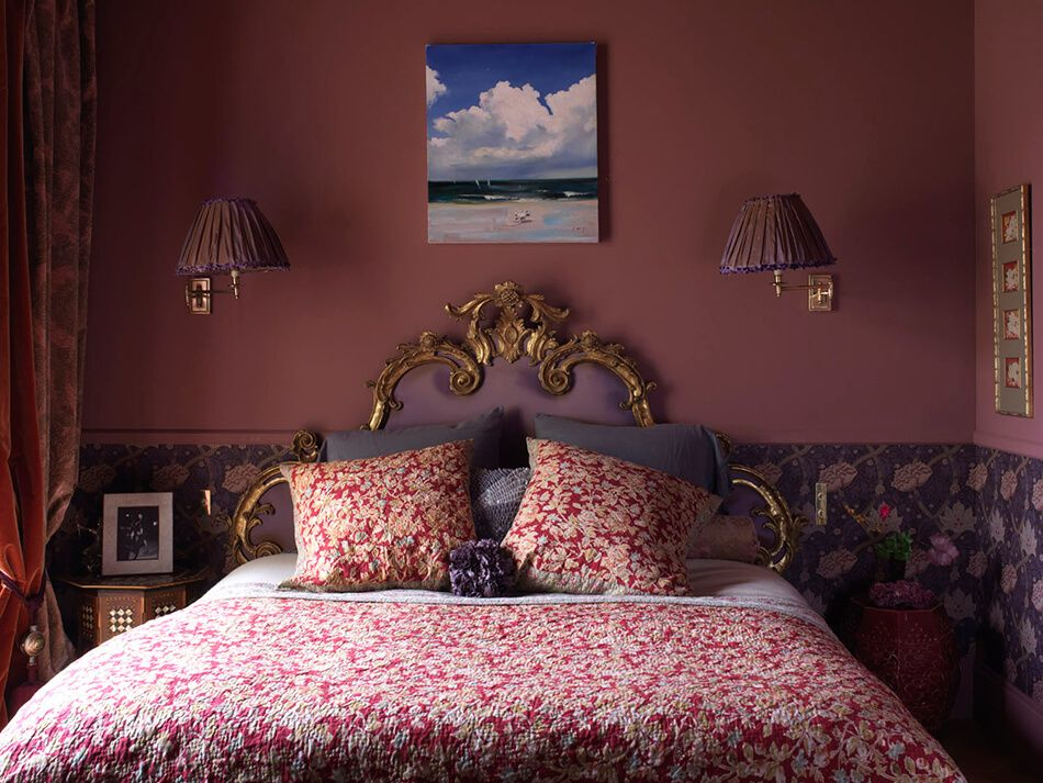 Colorful and eclectic is an artful style of bedroom.