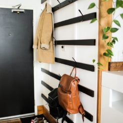Horizontal wall coat rack