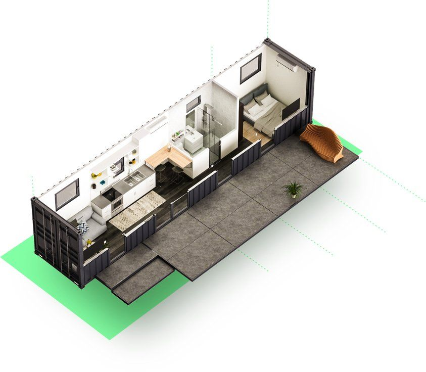 Efficient Floor Plan Ideas Inspired By Shipping Container ...