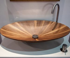 Laguna eclipse wash basin in wood