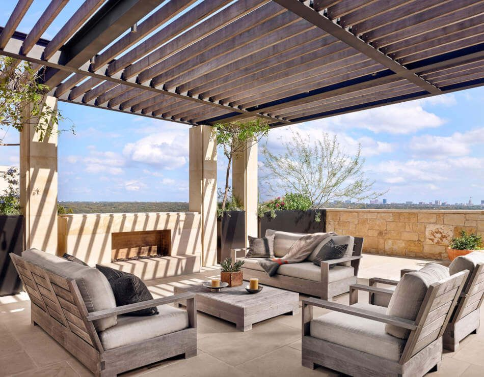 Modern rustic patios are calm and relaxing.