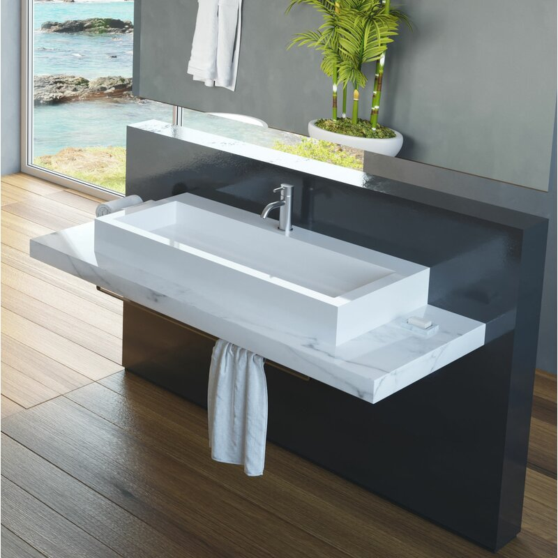 Rectangular tub sink