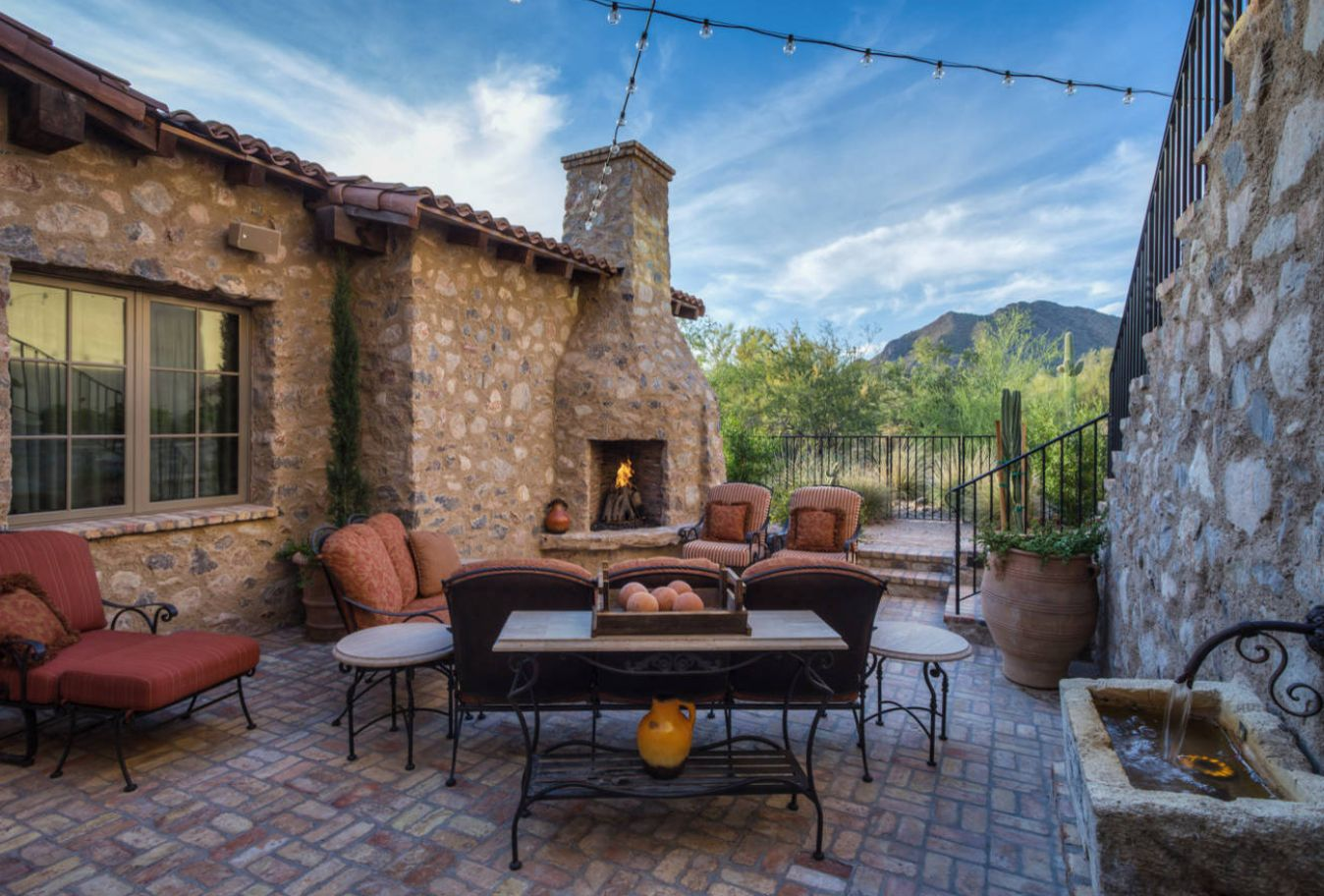 Southwestern style patios can be of Mediterranean style.