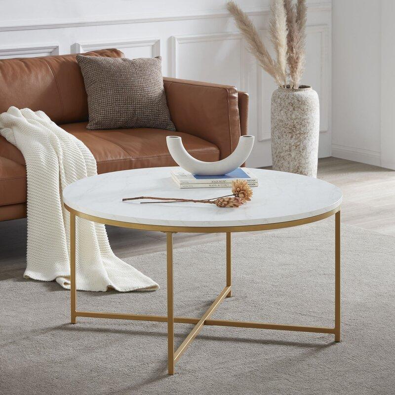 Sezis Cross Legs Coffee Table