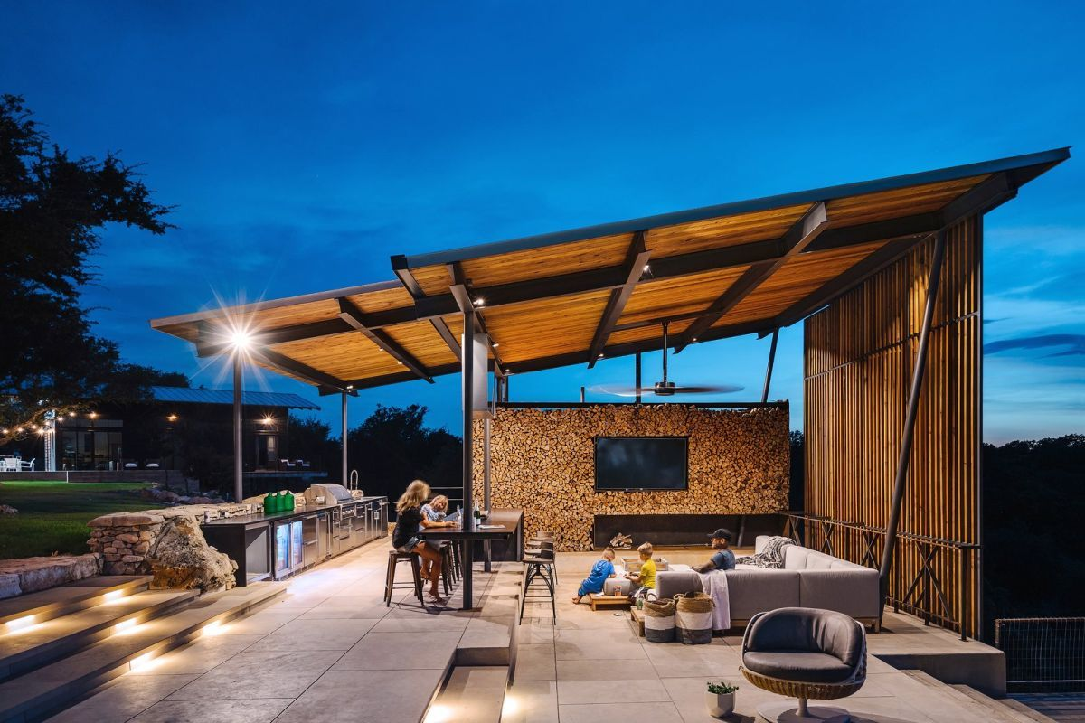 A stand-alone pavilion is perfect for parties.