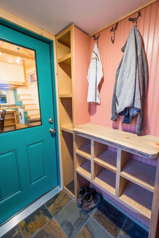 Tiny House with a Mudroom Entryway