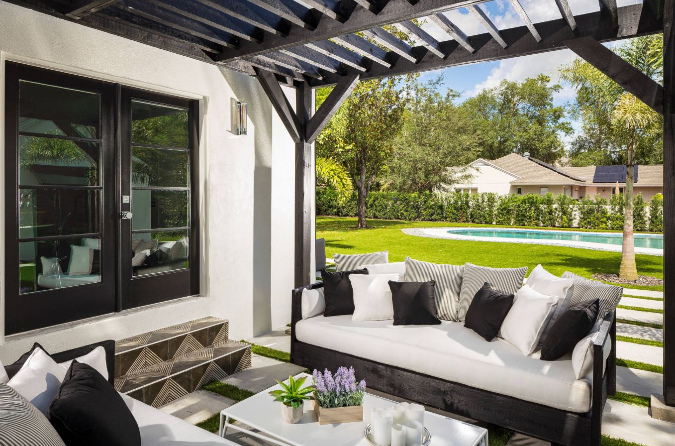 Comfortable furniture is key for a patio that gets year-round use.