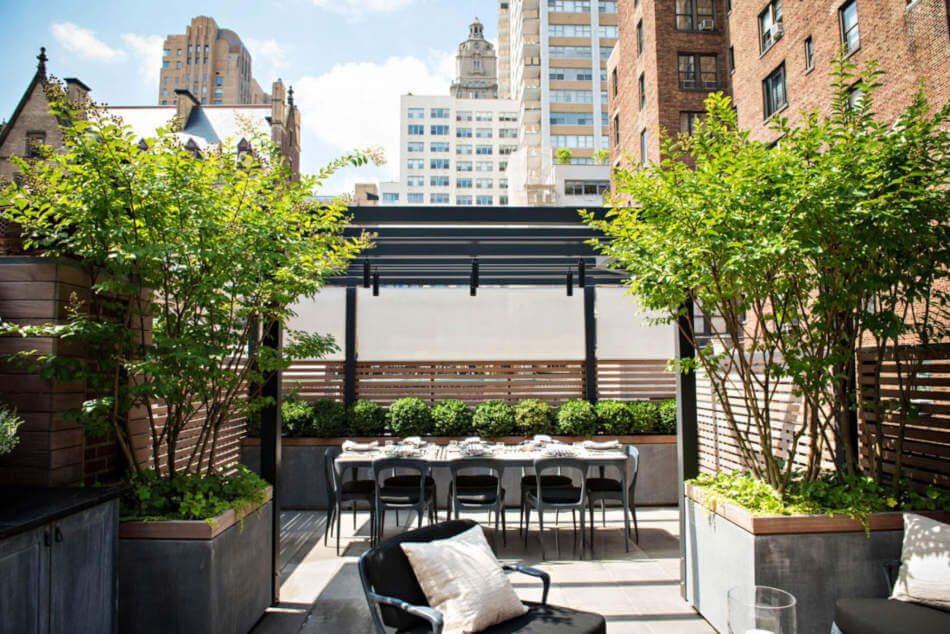 Urban patios can still be luxurious and spacious.