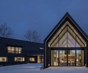 V-shaped Mountain Home Inspired By The Classic A-frame Cabin