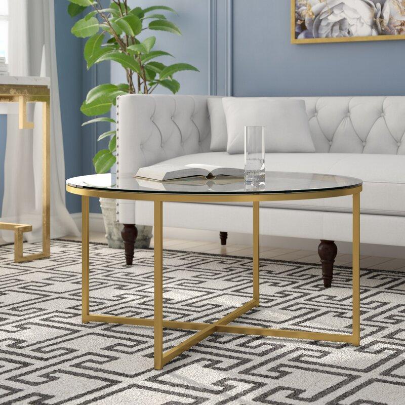 Wasser Cross Legs Coffee Table