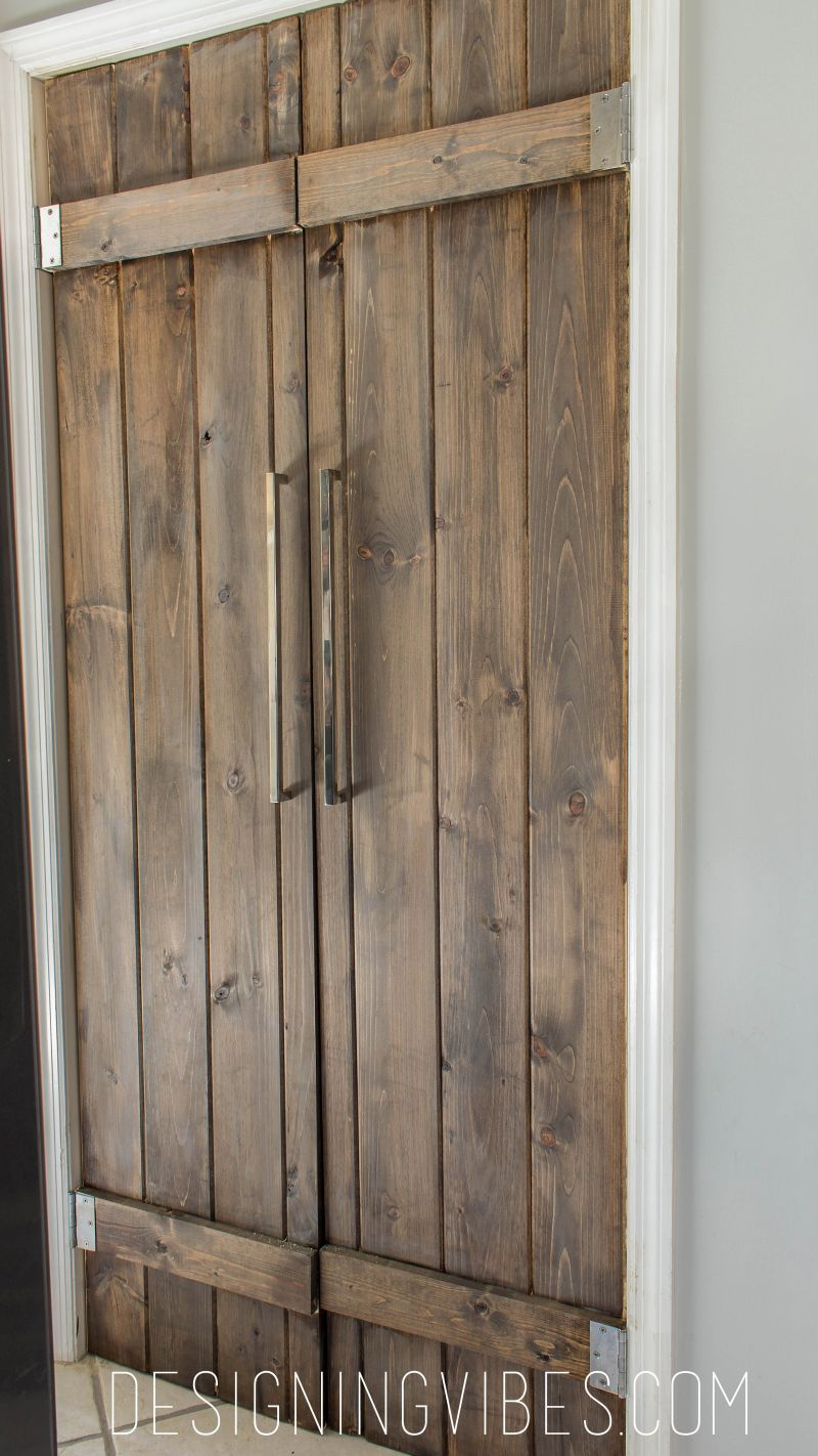 Make a statement with wooden barn doors