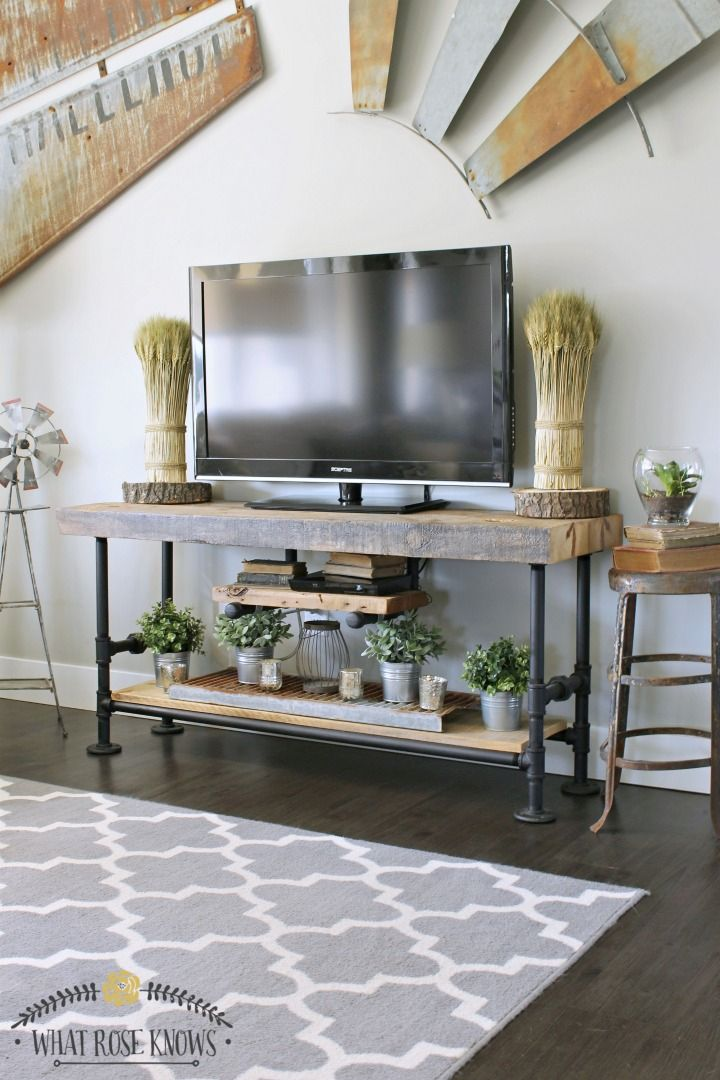 DIY TV Stands That Are Fun And Easy To Build