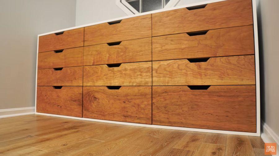 A modern 12 drawer dresser