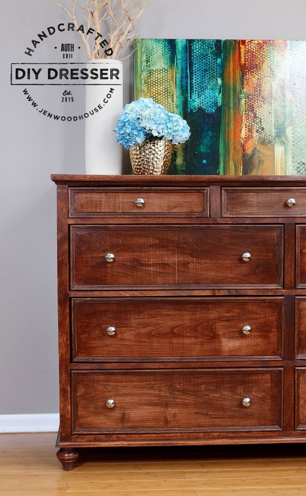 A solid chest of drawers with plenty of storage