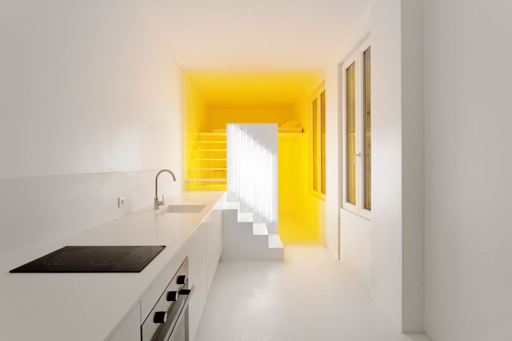 Minimalist design with a bright pop of color