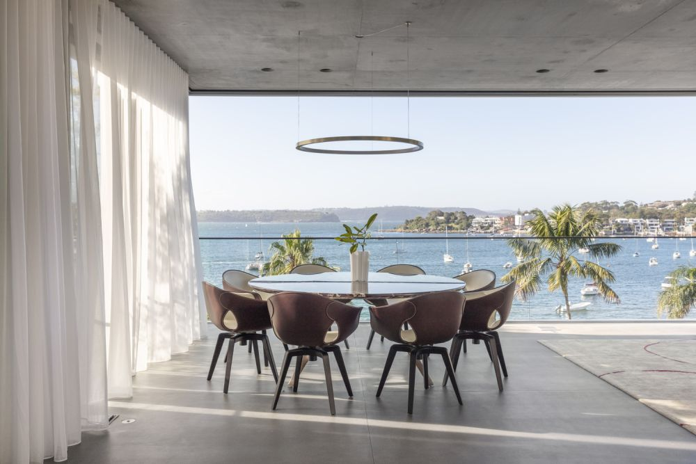 The views of the harbor are amazing and have played a crucial role in the overall design and structure of the house