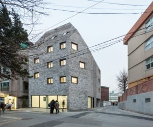 Beyond the Screen brick facade - OBBA