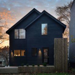 Black exterior Elm House - Canada