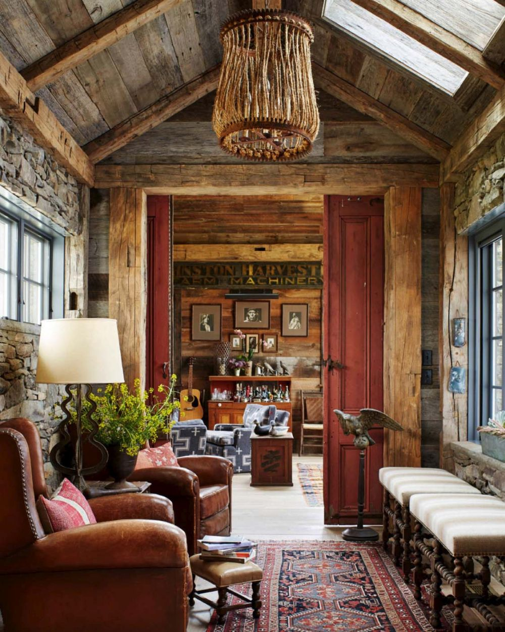 The palette of materials, colors and textures is based around natural elements, with a strong earthy vibe