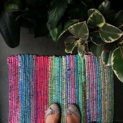 Denim rag rug DIY