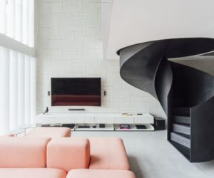 Stylish Loft Apartment Reinvented By A Spiral Staircase