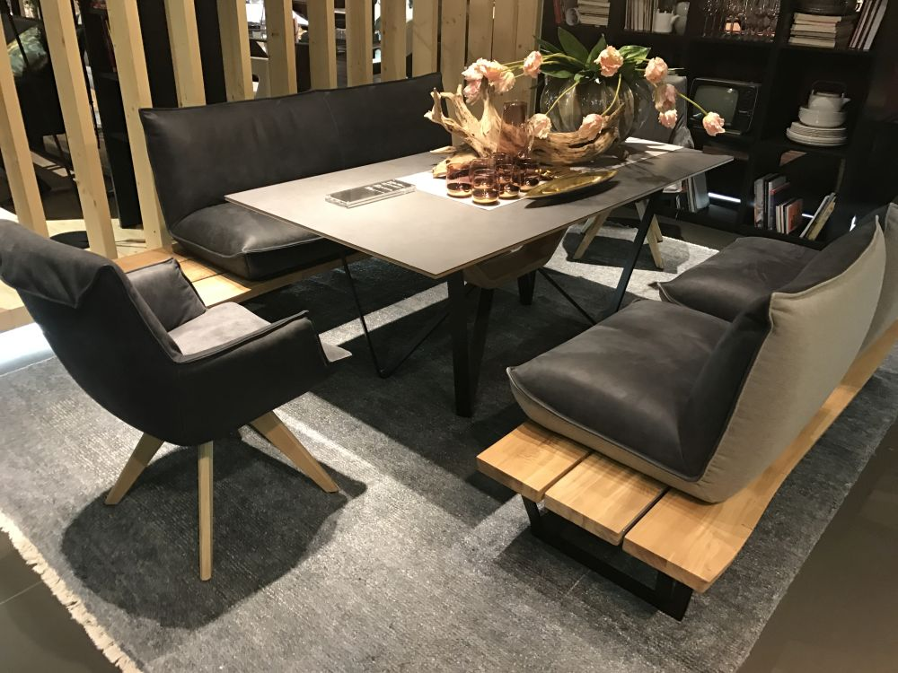 Consider a variety of different seating options so everyone at the table can feel comfortable