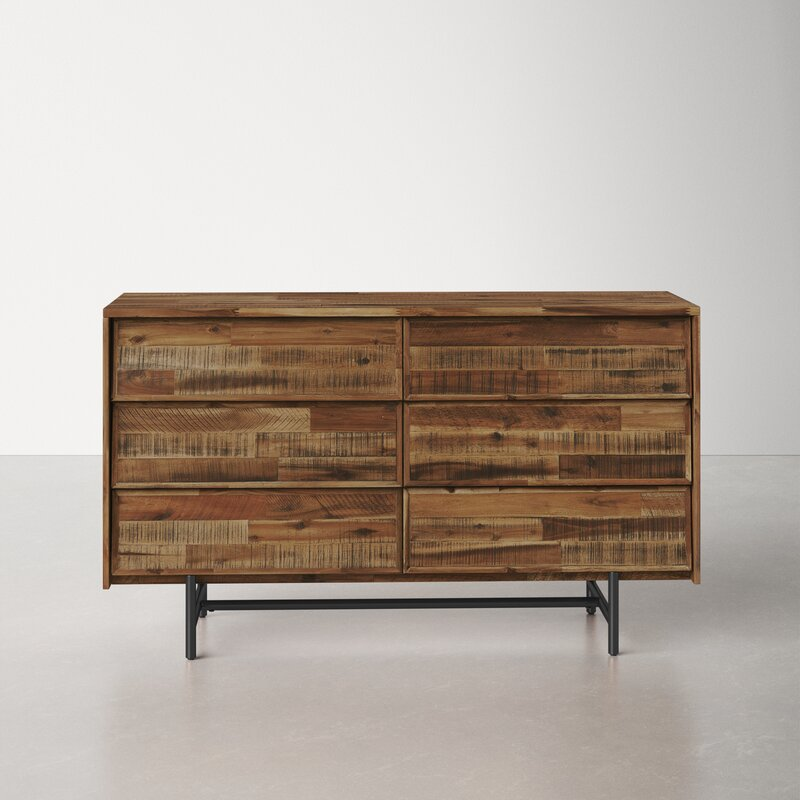 Eclectic chest of drawers with texture and character