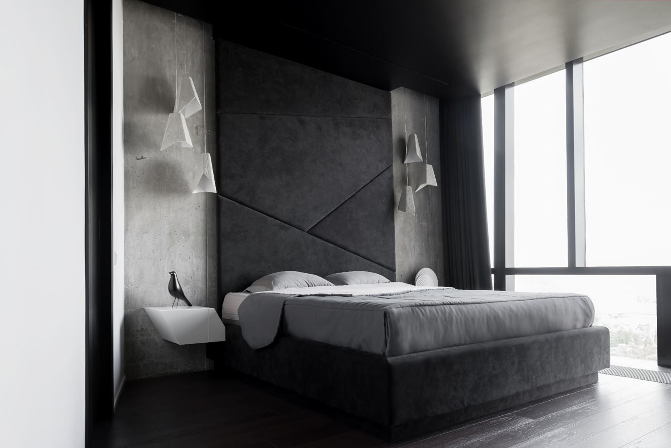 These super tall headboards add a lot of drama.