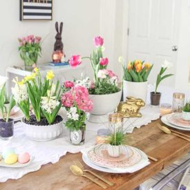 Fresh table decor for Easter