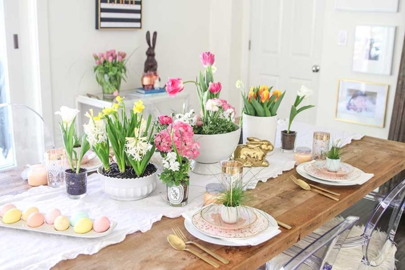 Easter Table Decor Ideas Inspired By Spring And Nature